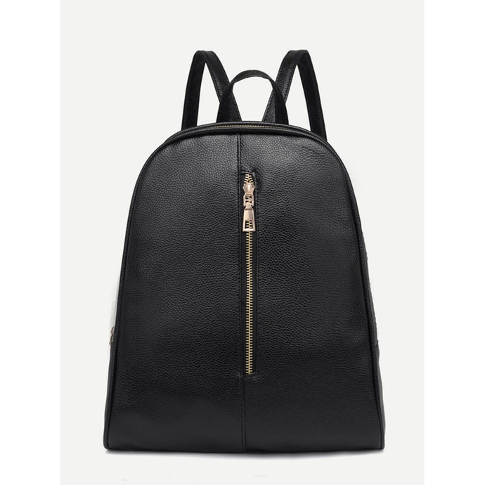 Zip Front Pebble Detail Backpack
