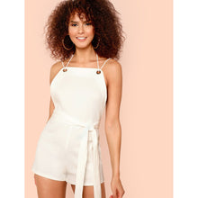 Load image into Gallery viewer, Belted Waist Rib Knit Jumpsuit