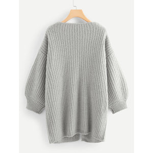 Bishop Sleeve Open Front Cardigan
