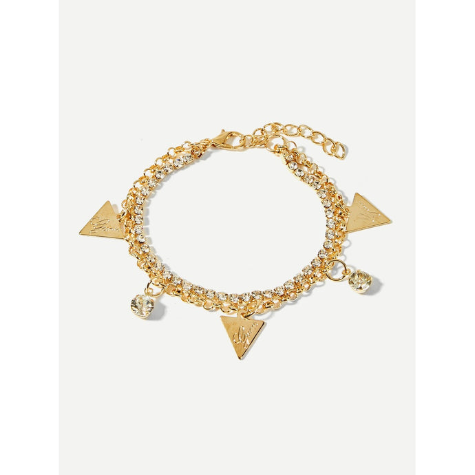 Triangle Charm Layered Charm Bracelet