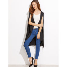 Load image into Gallery viewer, Black Cape Sleeve High Low Blazer