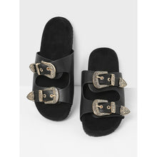 Load image into Gallery viewer, Buckle Strap Slide Sandals
