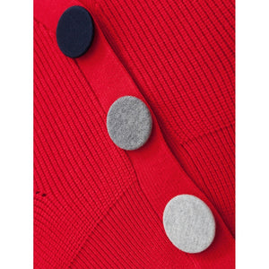 Button Detail Solid Cardigan