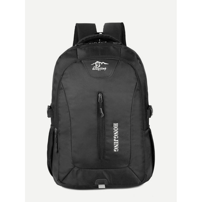 Zipper Front Detail Buckle Backpack