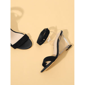 Ankle Cuff Clear Wedges