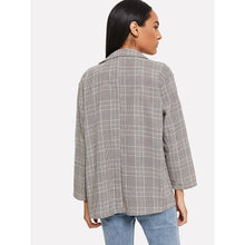 Load image into Gallery viewer, Tartan Plaid Dual Pocket Blazer