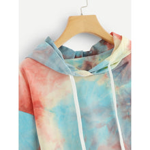Load image into Gallery viewer, Tie Dye Drawstring Hoodie Sweatshirt