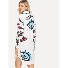 Load image into Gallery viewer, Abstract Print Shirt Dress