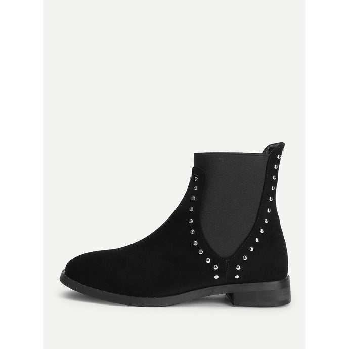 Studded Decor Chelsea Ankle Boots