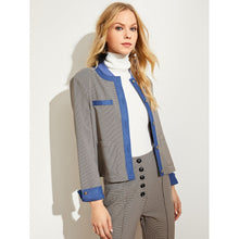 Load image into Gallery viewer, Button & Pocket Front Plaid Blazer