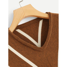 Load image into Gallery viewer, Bishop Sleeve Chevron Sweater