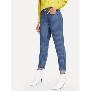 5 Pocket Pinstripe Jeans