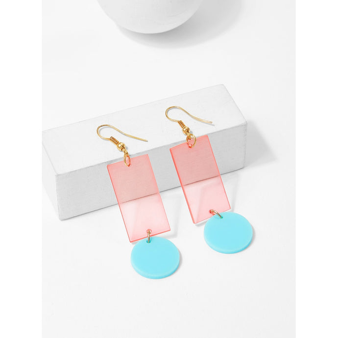 Translucent Rectangle Drop Earrings