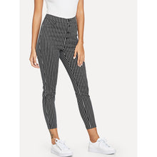 Load image into Gallery viewer, Button Front Striped Pants