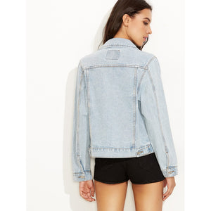 Bleach Wash Denim Jacket
