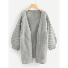 Load image into Gallery viewer, Bishop Sleeve Open Front Cardigan