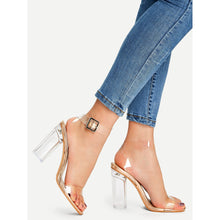 Load image into Gallery viewer, Ankle Strap Clear Design Heels