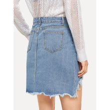 Load image into Gallery viewer, Asymmetrical Hem Denim Skirts
