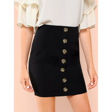 Load image into Gallery viewer, Button Front Bodycon Skirt