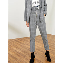 Load image into Gallery viewer, Button Up Belted Tie Hem Pants
