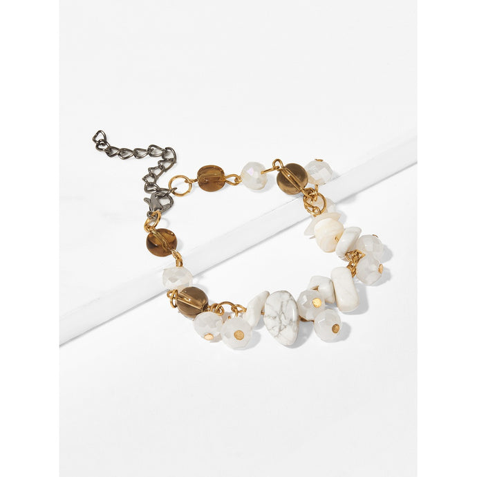 Stone Decorated Chain Bracelet