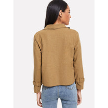 Load image into Gallery viewer, Buckle Detail Sleeve Coat
