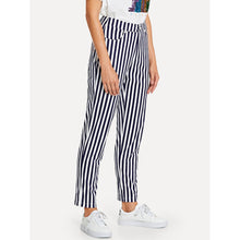 Load image into Gallery viewer, Button Fly Striped Print Pants