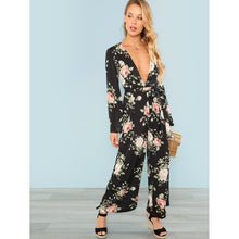 Load image into Gallery viewer, Bell Sleeve Plunge Jumpsuit
