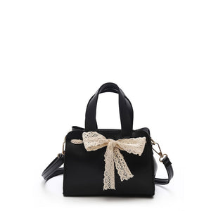 Bow Tie Decorated PU Shoulder Bag With Handle
