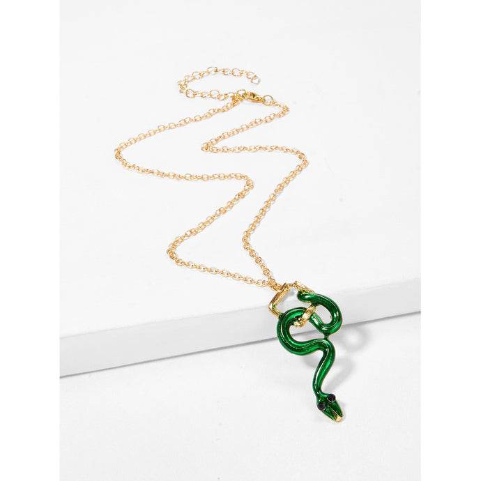 Snake Pendant Chain Necklace