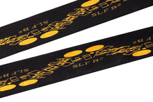 Load image into Gallery viewer, Gold on Black Thin Silk Scarf - slfb2