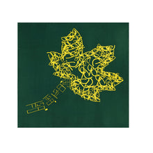 Load image into Gallery viewer, Leaf Logo Print Squared Silk Scarf - slfb2