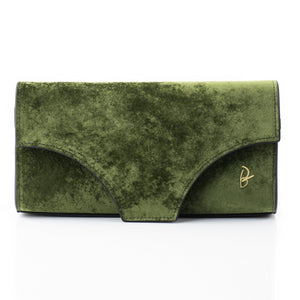 Masonic Green Velvet Underwear Clutch - slfb2