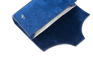 Royal Blue Velvet Underwear Clutch - slfb2