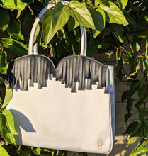 Load image into Gallery viewer, Elegant Grey Silk Tote - slfb2