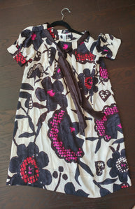 White & Floral Print Diane von Furstenberg Dress