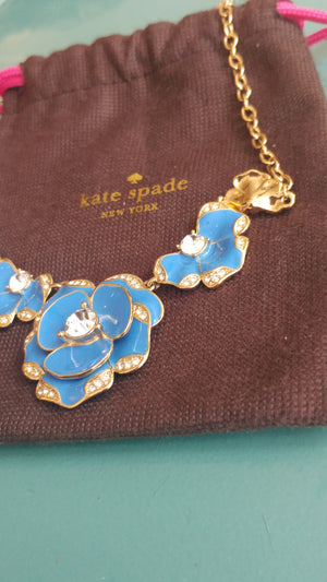 Blue Flower Enamel Kate Spade Necklace