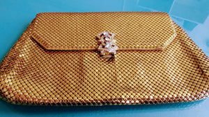 Gold Whiting & Davis Mesh Clutch
