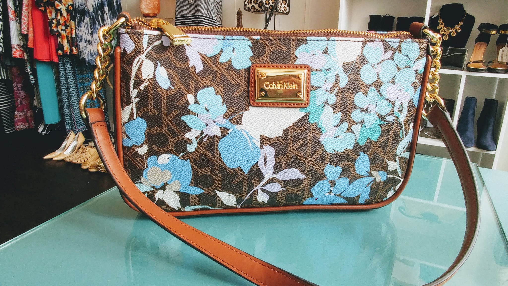 Calvin Klein Purse with Floral Detail