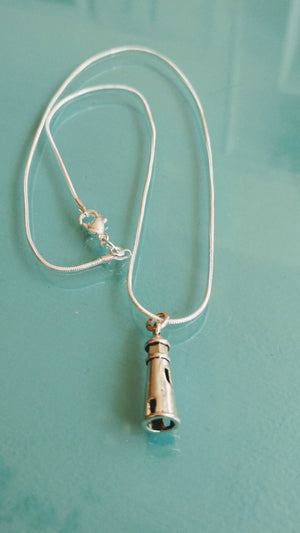 Silver Lighthouse Pendant Necklace