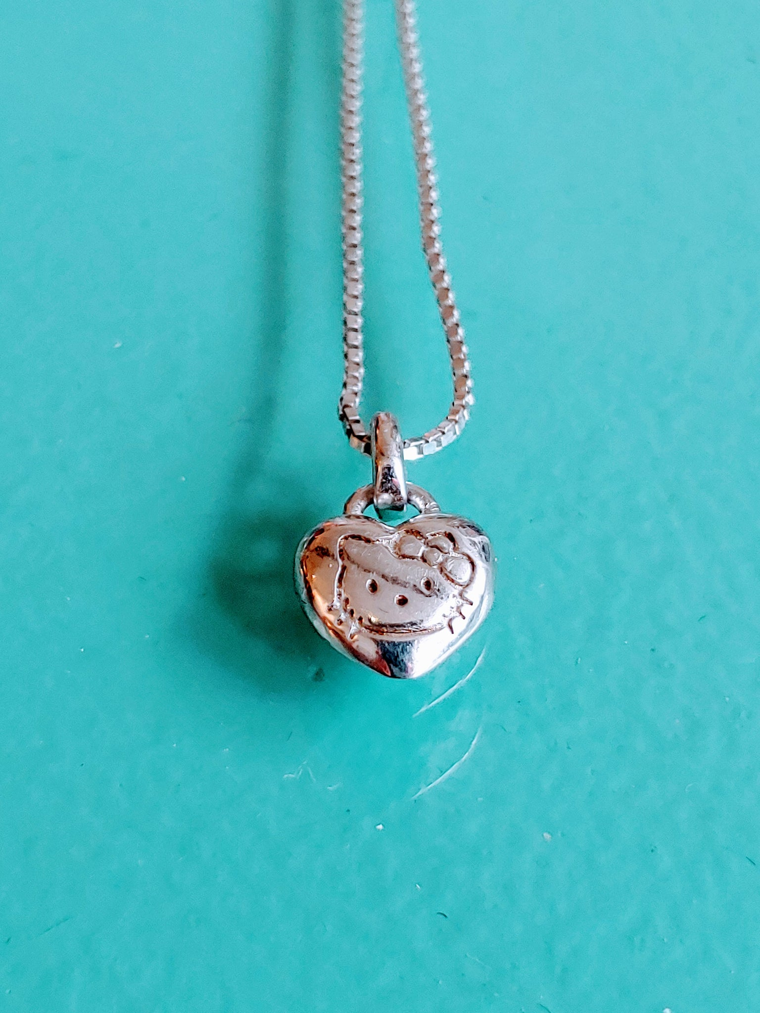 Sterling Silver 'Hello Kitty' Necklace