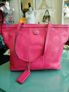 Pink Coach Shoulder Bag