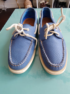 Blue Sperry Boat Shoes, size 8.5