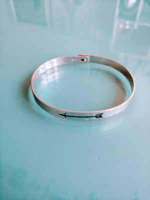 Sterling Boho Arrow Bangle Bracelet