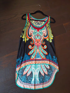 Colorful Flying Tomato Tank Top, size L