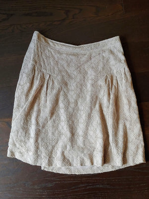 Gray Eyelit Burberry Skirt, Euro Size 42