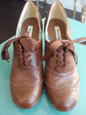 Brown American Eagle Ankle Booties, size 8