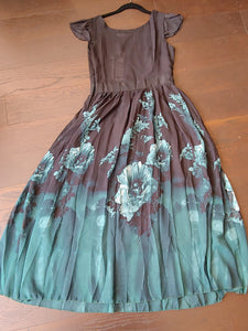 Black Style We Dress with Teal Green Floral Print