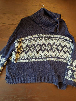 Blue Free People sweater size S