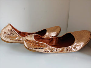 Copper Color Lucky Brand Flats, Size 9.5